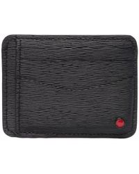 Kiton Leather Credit Card Case - Black