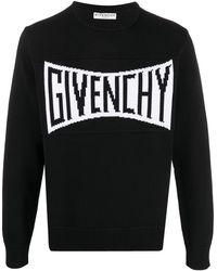 Givenchy Intarsia-knit Logo Sweatshirt - Black
