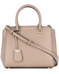 MICHAEL Michael Kors - Benning Leather Messenger Bag - Lyst