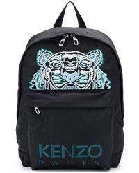 KENZO Logo Embroidered Backpack - Black
