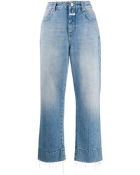Closed Cropped Wide-leg Jeans - Blue