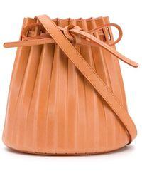 Mansur Gavriel Borsa a secchiello plissettata - Arancione