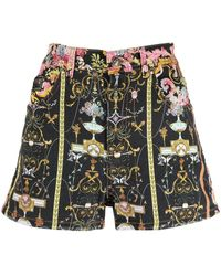 Versace Jeans Couture Baroque All-over Print Shorts - Black