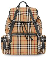 Burberry Check Backpack - Yellow