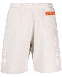 Heron Preston Logo Patch Track Shorts - Grey