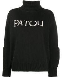Patou Maglione con tagli cut-out - Nero