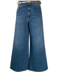 Stella McCartney Cropped Wide Leg Jeans - Blue