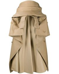 Junya Watanabe Trench Coat Gathered Skirt - Natural