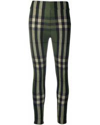 Burberry Leggings con logo Vintage Check - Verde