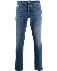 Brunello Cucinelli Mid-rise Slim-fit Jeans - Blue