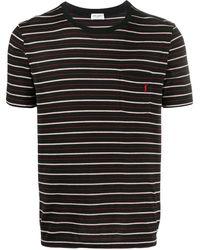 Saint Laurent T-shirt a righe - Nero