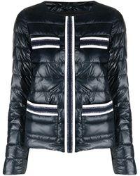 Herno Metallic Threading Puffer Jacket - Blue