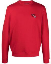 Emporio Armani Cotton Sweatshirt - Red