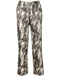 F.R.S For Restless Sleepers Printed Tapered Pants - Brown