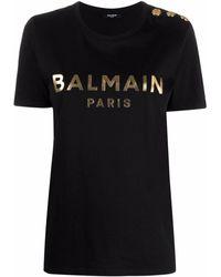 Balmain T-shirt con stampa - Nero
