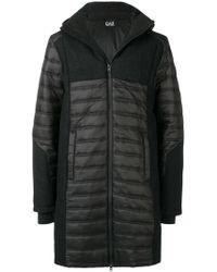 EA7 Down Coat With Logo - Black