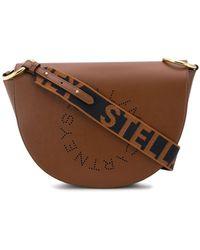 Stella McCartney Stella Logo Saddle Bag - Brown