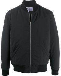 Loewe Daisy-print Bomber Jacket - Black