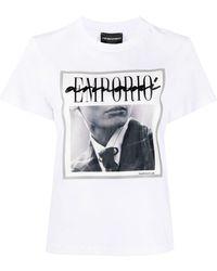 Emporio Armani T-shirt con stampa - Bianco