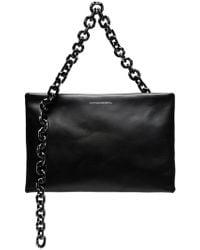 CALVIN KLEIN 205W39NYC Leather Shoulder Bag - Black