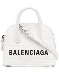 Balenciaga Ville Leather Handbag - White