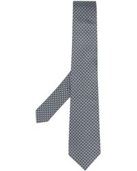 Emporio Armani Repeat Logo Tie - Gray
