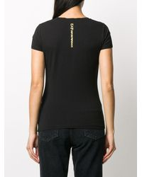 EA7 Logo-print Crew Neck T-shirt - Black