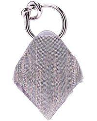 Benedetta Bruzziches Draped Chainmail Tote - Purple