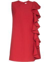 Valentino - Wool Short Dress - Lyst