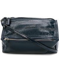 43d31220ac Lyst - Givenchy Pandora Mini Leather Shoulder Bag in Blue