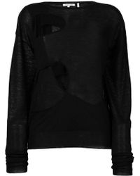 Helmut Lang - Cut Out Crew Neck Tee - Lyst