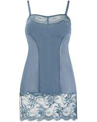 La Perla Brigitta Lace-trimmed Slip Dress - Blue