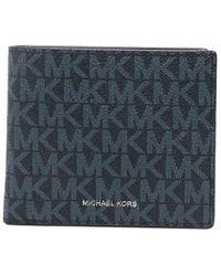 Michael Kors Logo Print Billfold Wallet - Blue