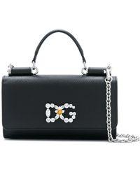 Dolce   Gabbana Von Bag In Printed Dauphine Calfskin in Blue - Lyst 5483a86df6b9d