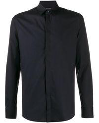 Emporio Armani Concealed Fastening Shirt - Blue