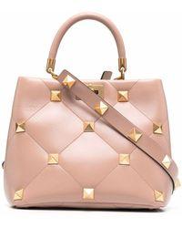 Valentino Garavani - Roman Stud Leather Handbag - Lyst