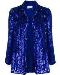 P.A.R.O.S.H. Sequin Embellished Jacket - Blue