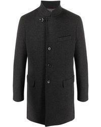 Fay Single-breasted Coat - Grey