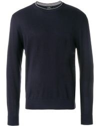 Paul Smith - Striped Printed Sweater - Lyst