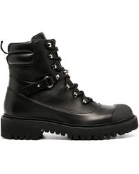 Valentino Garavani Rockstud Combat Boots - Black
