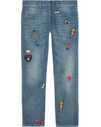 Gucci - Cotton Jeans - Lyst