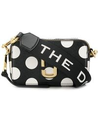 Marc Jacobs - Snapshot Polka-dot Print Leather Cross-body Bag - Lyst
