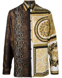 Versace Printed Silk Shirt - Black