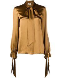 Saint Laurent Silk Blouse - Brown
