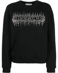 Givenchy Crystal-embellished Logo Sweatshirt - Black