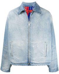 424 Zip-up Denim Jacket - Blue