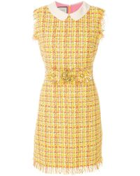 Gucci - Sleeveless Tweed Dress - Lyst