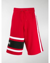 Givenchy Logo-embroidered Cotton-jersey Track Shorts
