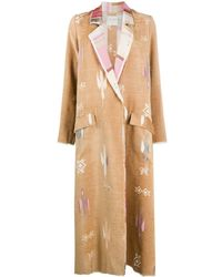 Forte Forte Embroidered Single-breasted Coat - Natural