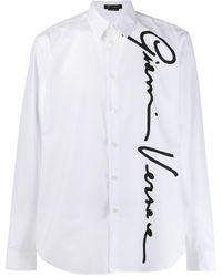 Versace Gv Signature Buttoned Shirt - White